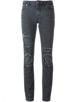 Джинсы с рваными деталями Givenchy. Цвет: черный