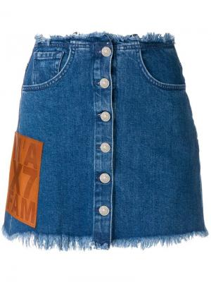 Джинсовая юбка с бахромой 7 For All Mankind
