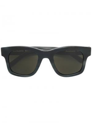 Солнцезащитные очки с квадратной оправой Sun Buddies. Цвет: чёрный