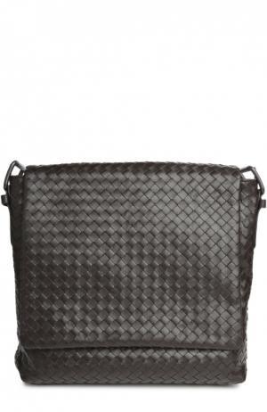 Кожаная сумка-планшет Bottega Veneta. Цвет: коричневый