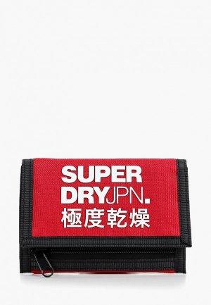 Кошелек Superdry. Цвет: красный