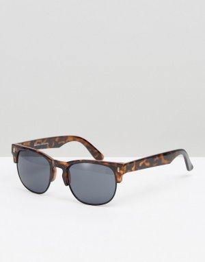 Солнцезащитные очки ретро в черепаховой оправе -Коричневый цвет Bershka