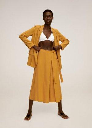 Расклешенные брюки - Bale-a Mango. Цвет: карри