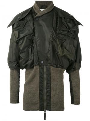 Куртка-бомбер Clint Eastwood Vivienne Westwood. Цвет: зелёный