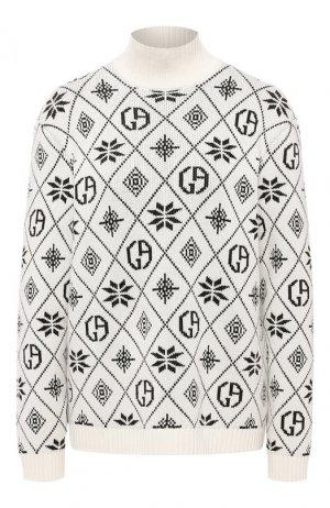 Кашемировый пуловер Giorgio Armani. Цвет: белый