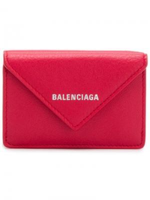 Мини-кошелек Papier Balenciaga. Цвет: красный
