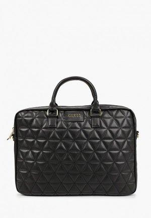 Сумка Guess для ноутбуков 15 Quilted Bag Black. Цвет: черный