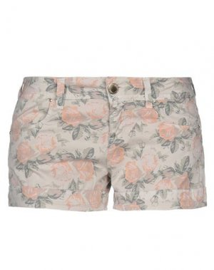 Повседневные шорты FLY GIRL. Цвет: бежевый