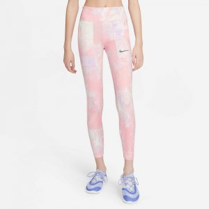 One Tie-Dye Printed Leggings Nike. Цвет: розовый