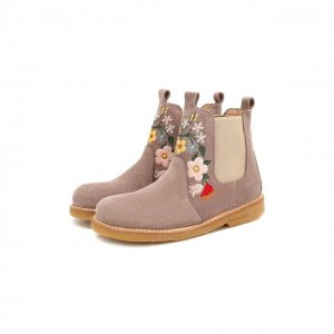 Кожаные ботинки Angulus. Цвет: бежевый
