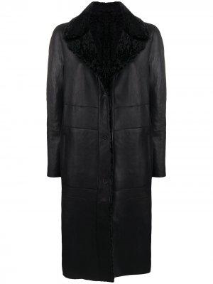 Двустороннее пальто строгого кроя Drome. Цвет: черный