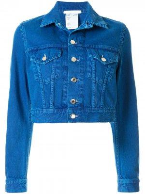 Джинсовая куртка Little Trucker Helmut Lang. Цвет: синий