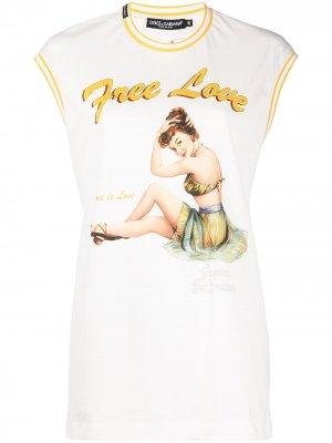 Топ Free Love Dolce & Gabbana. Цвет: белый