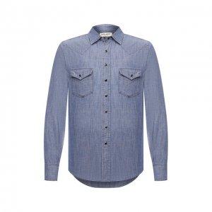 Джинсовая рубашка Saint Laurent. Цвет: синий