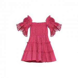 Хлопковое платье Charo Ruiz Ibiza. Цвет: розовый