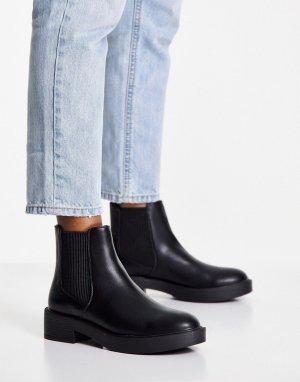 Черные ботинки челси Alford-Черный цвет ASOS DESIGN