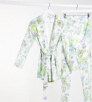 Белый трикотажный пиджак с запахом и цветочным принтом Maternity-Мульти ASOS DESIGN