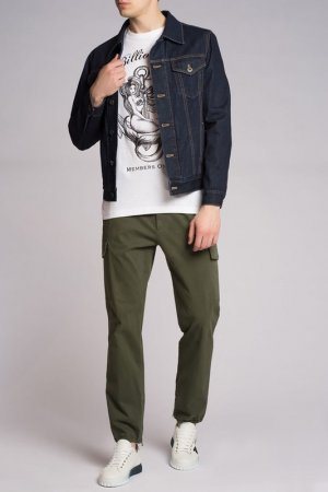 Куртка джинсовая Brioni. Цвет: синий