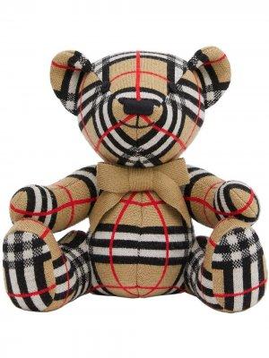 Мягкая игрушка Thomas Bear в клетку Burberry Kids. Цвет: нейтральные цвета