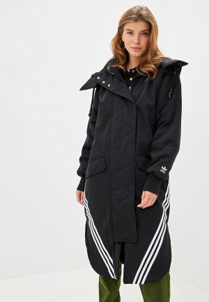 Куртка утепленная adidas Originals PARKA. Цвет: черный