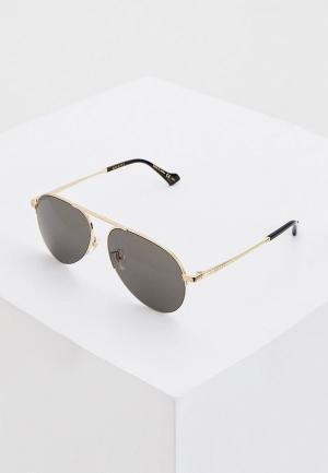 Очки солнцезащитные Gucci GG0742S 005. Цвет: золотой