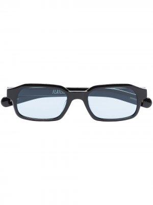 Солнцезащитные очки Hanky в круглой оправе FLATLIST. Цвет: черный