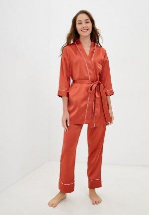 Халат и пижама Eva Cambru. Цвет: оранжевый