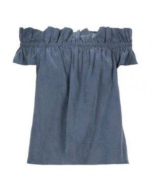 Джинсовая рубашка ULLA JOHNSON. Цвет: синий