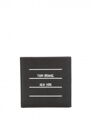 Картхолдер Paper Label Thom Browne. Цвет: черный