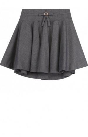 Мини-юбка свободного кроя с декором на поясе Aletta. Цвет: темно-серый