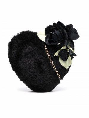 Heart shoulder bag Monnalisa. Цвет: черный