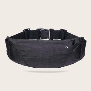 Спортивная поясная сумка SHEIN. Цвет: чёрный