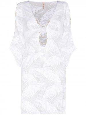Eileen floral-pattern beach dress Agent Provocateur. Цвет: белый