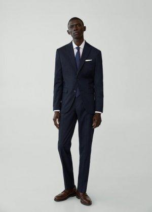 Костюмный пиджак regular fit с мелкой фактурной выделкой - Janeiro Mango. Цвет: темно-синий