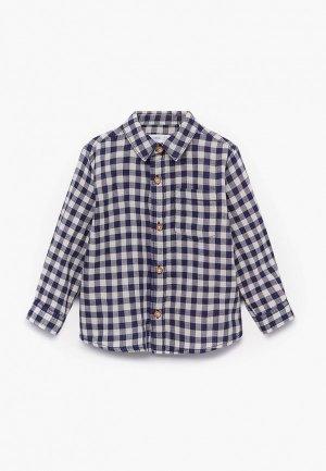Рубашка Mango Kids - DOUBLE. Цвет: синий