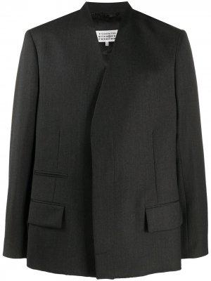 Двубортный пиджак Maison Margiela. Цвет: серый