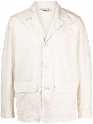Однобортный пиджак Aspesi. Цвет: нейтральные цвета