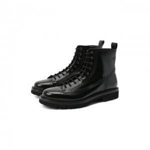 Кожаные ботинки Aldo Brue. Цвет: чёрный