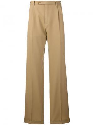 Классические брюки Gucci. Цвет: телесный
