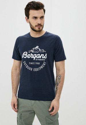 Футболка Bergans of Norway. Цвет: синий