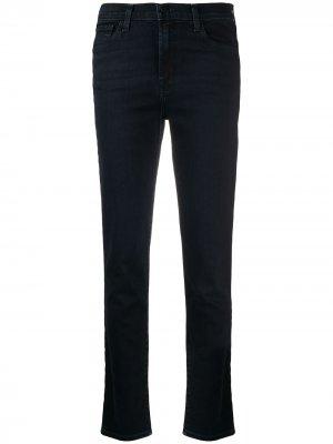 Зауженные джинсы с завышенной талией J Brand. Цвет: синий