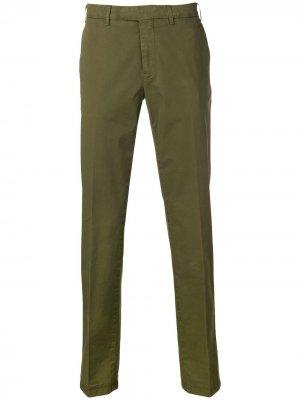 Классические брюки чинос Canali. Цвет: зеленый