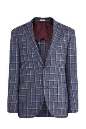 Шерстяной блейзер с накладными карманами LUCIANO BARBERA. Цвет: серый