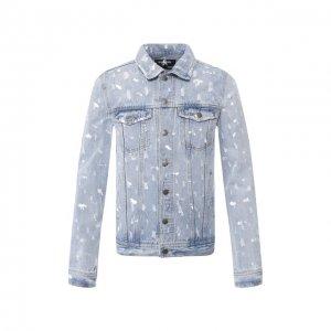 Джинсовая куртка Dom Rebel. Цвет: синий