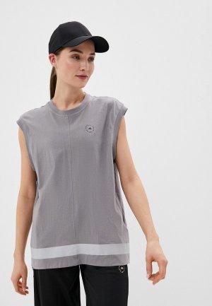 Майка adidas by Stella McCartney MUSCLE TANK. Цвет: серый