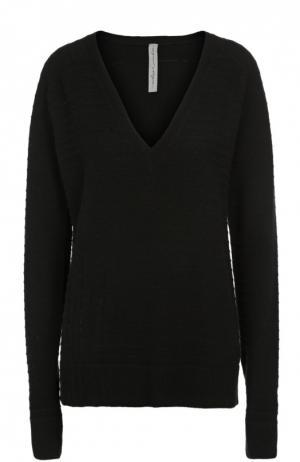 Пуловер свободного кроя с V-образным вырезом Raquel Allegra. Цвет: черный