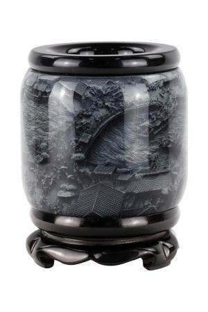 Карандашница Побережье ГЛАСАР. Цвет: черный, серый