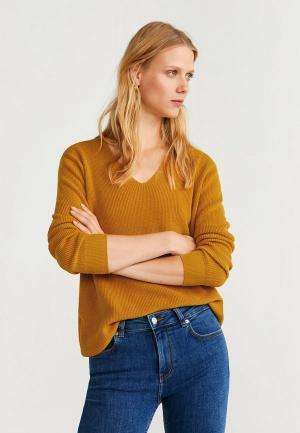 Пуловер Mango - CROSS5. Цвет: желтый