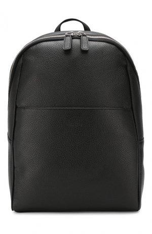 Кожаный рюкзак Canali. Цвет: чёрный