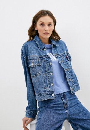Куртка джинсовая Levis® Levi's® NEW HERITAGE TRUCKER. Цвет: синий